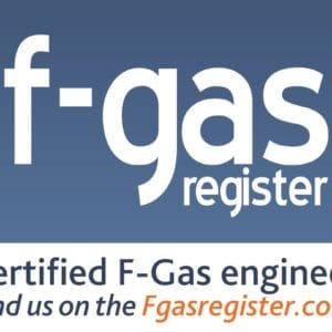 F gas company certification logo UK. Government approved.