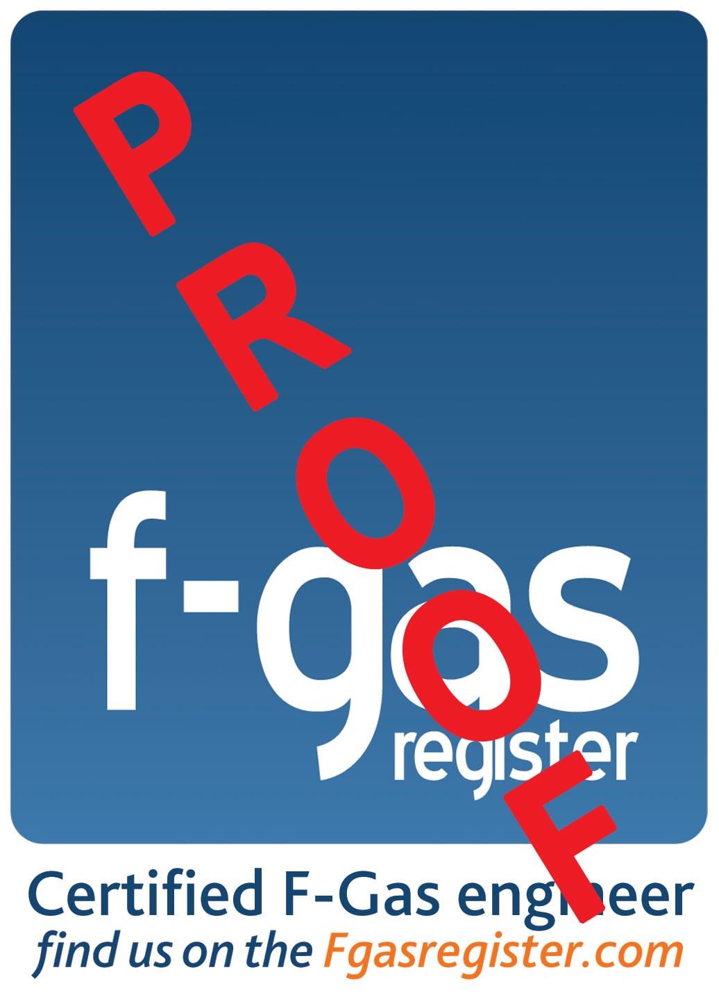 F-GAS sticker 122x122 proof